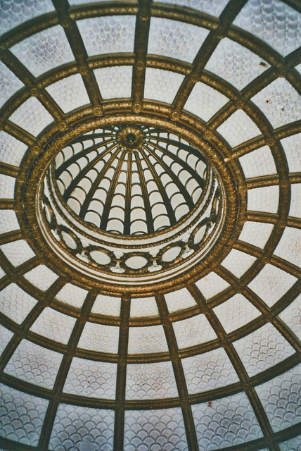 Security Building   - St Louis Mo. - Glass Dome Lobby