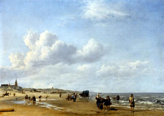 Adriaen van de Velde, Der Strand von Scheveningen - The beach of Scheveningen