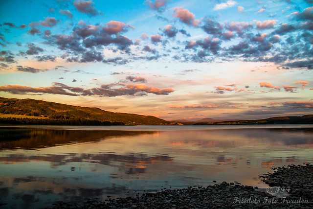 Evening mood at Leksdalsvatn, near Stenkjer - Norway