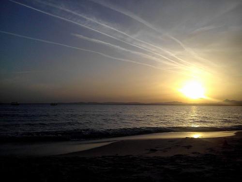 tunisia tunisie hammamet sea seaside sand beach plage sunset