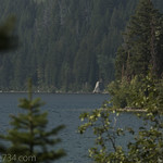 Jumping off rock at Phelps Lake