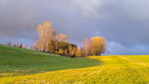 sunset clouds snowfall chemnitz