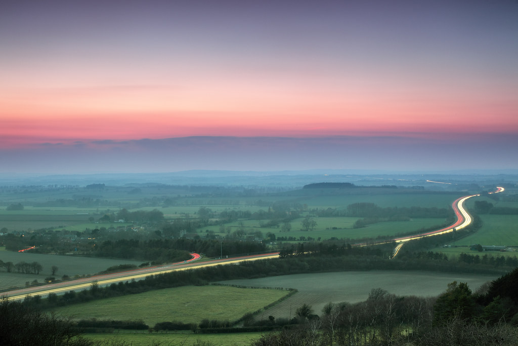Evening Hues over Oxfordshire