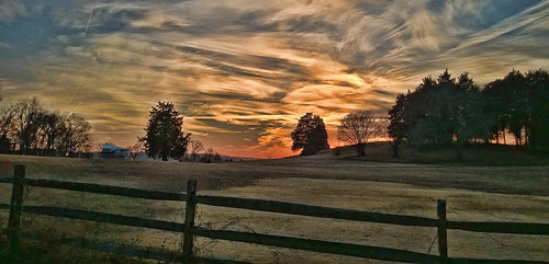trees sunset sky nature colors fence landscape hill annapolis