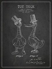 Toy Duck patent from 1915
