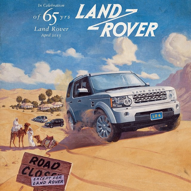 Land Rover Discovery 4 (LR4) In An Ad Celebrating 65 Years