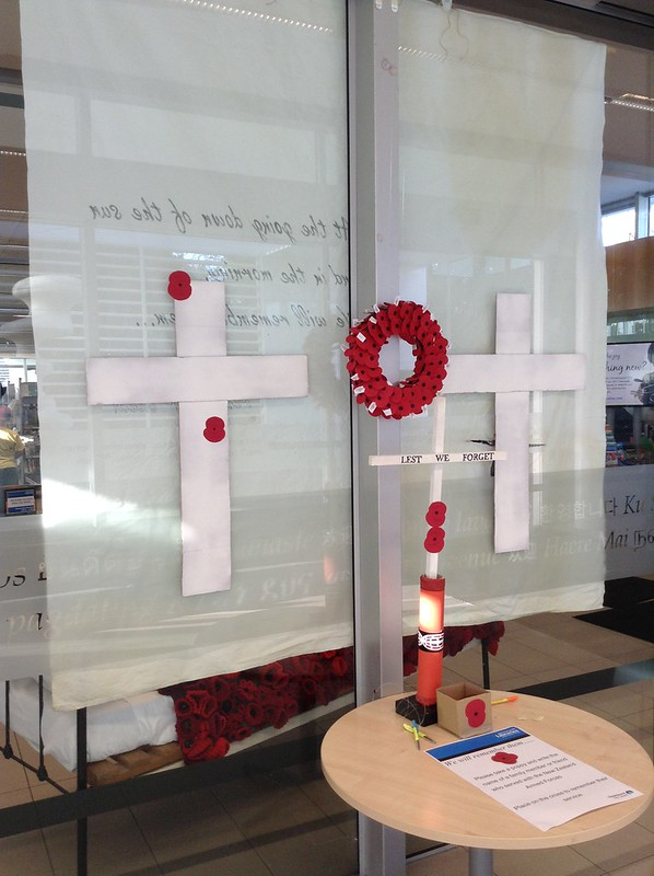 ANZAC display commemorative cross