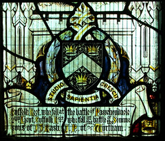 Rash Memorial Window: '...fell at the Battle of Passchendaele' and '...fell at the Battle of the Somme'