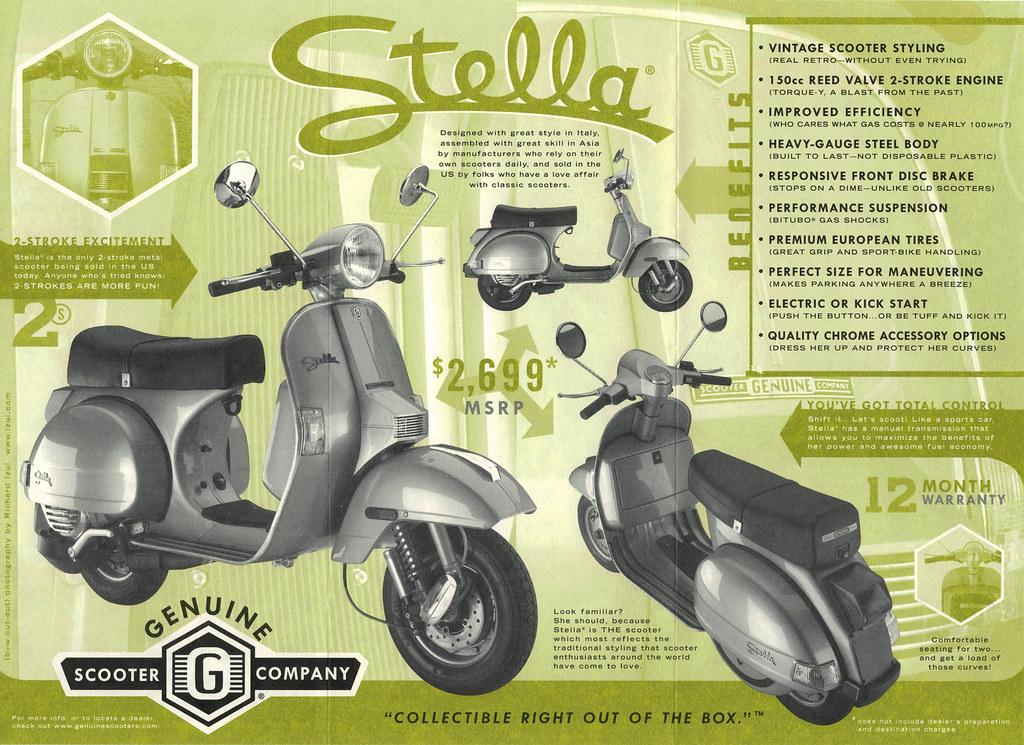 Original Stella Scooter Brochure, 2003 | The first-ever broc… | Flickr
