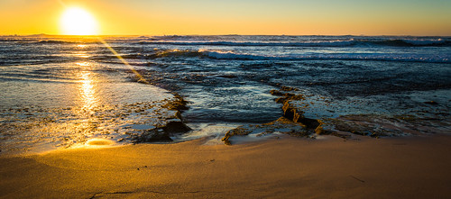 sunset west beach water holidays rocks indianocean sunny australia western wa
