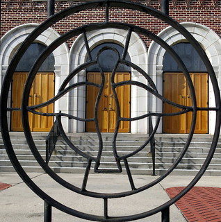 The iron gate of the Greek Orthodox Church of the Holy Trinity, Charleston, SC | by Spencer Means