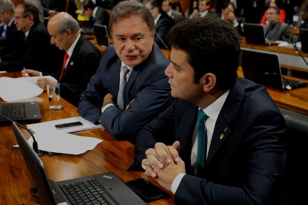Senador Cameli e Álvaro Dias na Comissão de Assuntos Econômicos