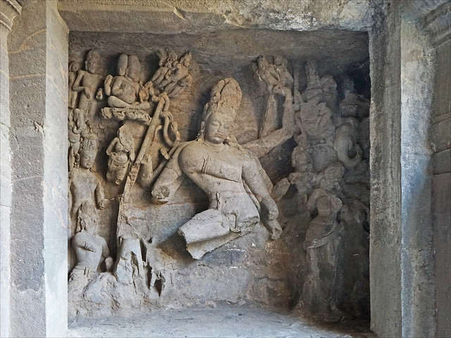Shiva Nataraja, grotte d'Elephanta (Mumbai, Inde)