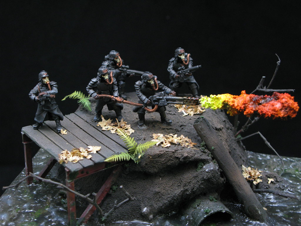 Death Korps Of Krieg Vs Necrons Diorama Tom Markham Flickr