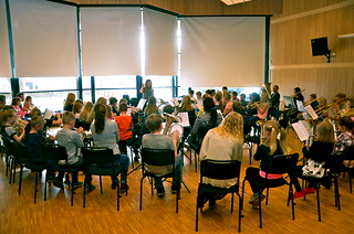 Repetition i Gislaveds Musikskolas fina lokal