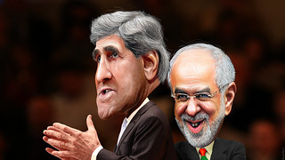 Mohammad Javad Zarif and John Kerry - Caricatures