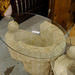 Large glass and polished concrete coffee table