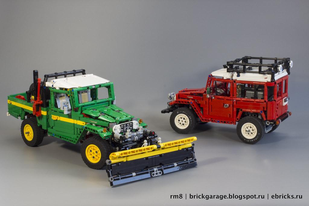 Toyota Land Cruiser FJ45 pickup with snow plow | RM8 LEGO