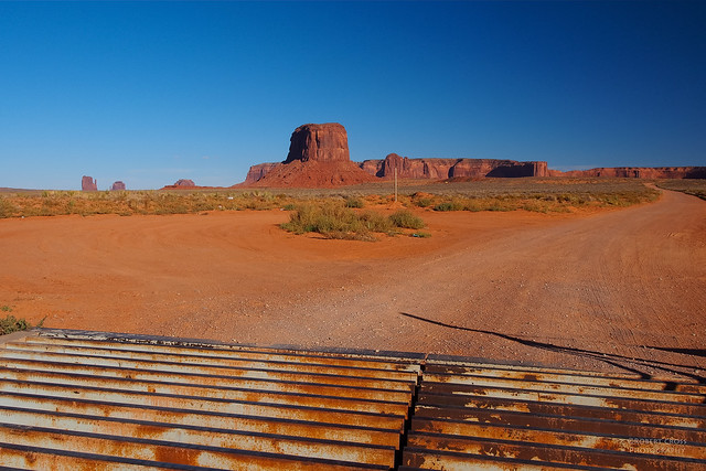 Monument Valley Red Dirt Road