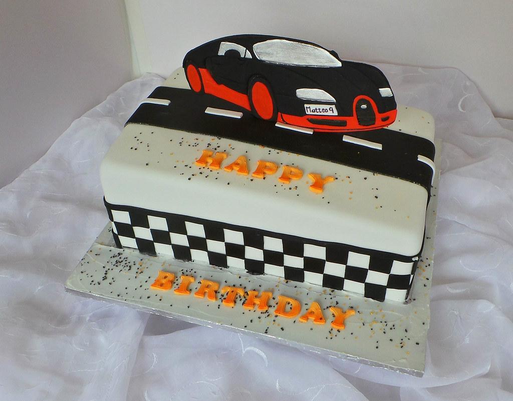 Surprising Sports Car Themed Birthday Cake Willi Probst Bakery Flickr Personalised Birthday Cards Veneteletsinfo