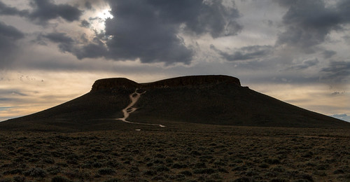 sunset landscape wyoming sweetwater pilotbutte