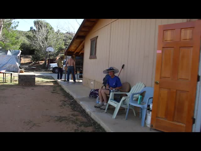 0514 Video of Listening to Jazz and relaxing at Trail Angel Mike's place at mile 127 on the PCT