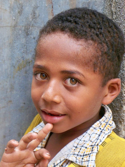 young representative of Siddis, India's Lost African Tribe (Junagadh, Gujarat state, India)