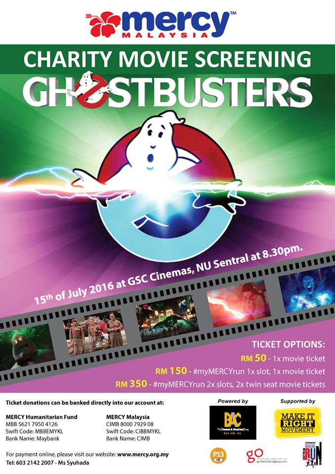 GHOSTBUSTERS CHARITY MOVIE SCREENING