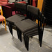 Black fabric waiting room chairs