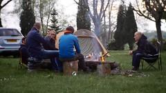 Overleg op de camping in Hotton