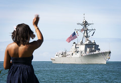 USS Michael Murphy (DDG 112) returns to Joint Base Pearl Harbor-Hickam, May 21. (U.S. Navy/MC2 Diana Quinlan)