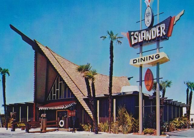 Islander Restaurant, Stockton, CA - Architect - Warren Wong; Sign Design by Bill Clarke - Ad Art, Inc.
