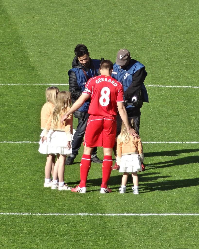 Gerrard before kick-off
