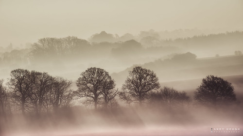 morning trees england mist fog unitedkingdom sony shapes silhouettes hills rays wallingford slopes wittenhamclumps a99 sonyalpha andyhough slta99v andyhoughphotography tamronsp70200di