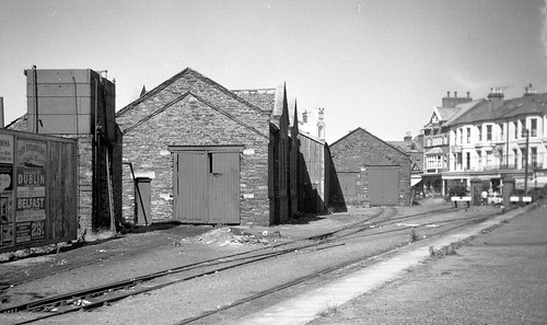 Isle of Man Railway - Port Erin goods and engine shed in July 1966