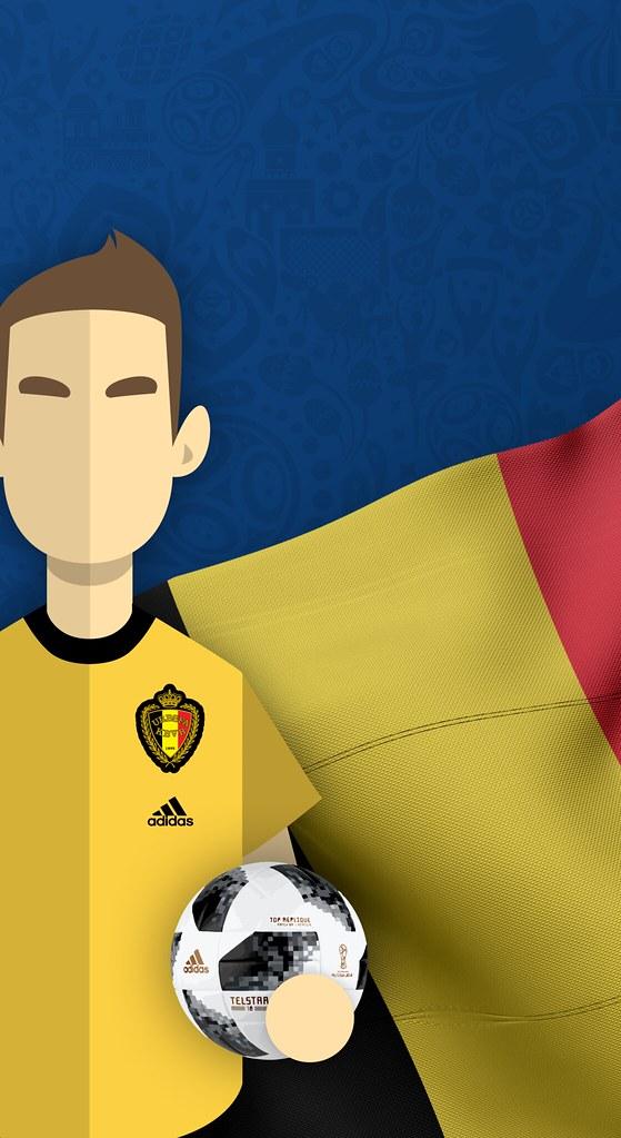 Team Belgium Football World Cup 2018 Iphone X Wallpaper