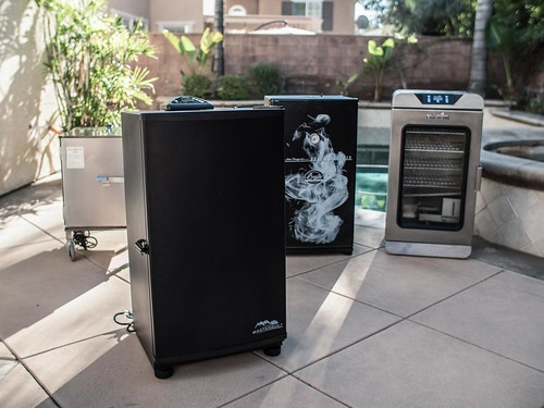 Best electric smokers on the poolside patio for smoked meat barbecue from masterbuilt with runnerups | by yourbestdigs