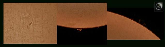 Sun in H-alpha (detail collage) 05/04/18
