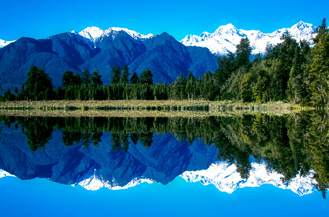 Lake Matheson. South Westland New Zealand