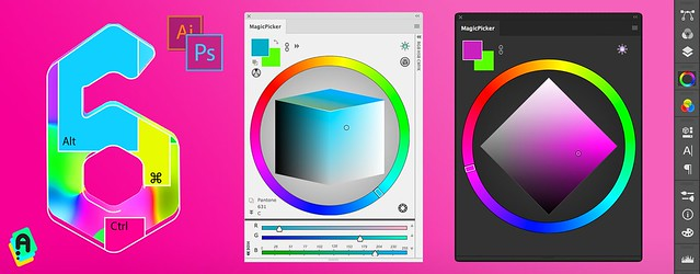 MagicPicker 6 Photoshop Color Wheel panel is up!