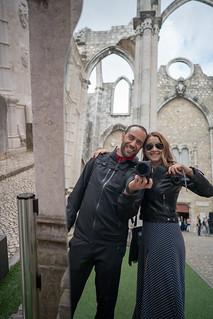 Nan and Deya at the Carmo Convent | by nan palmero