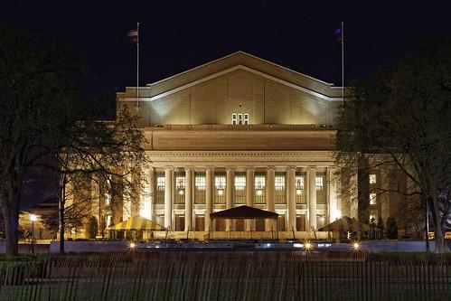 Northrop Auditorium at Night