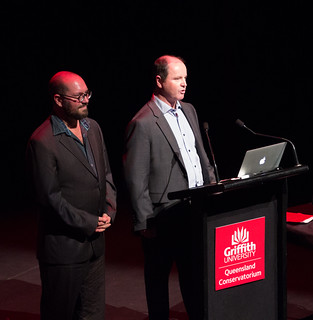 Prof. Andrew Brown and Dr Toby Gifford introduce NIME 2016 @ QCGU | by johnrobertferguson
