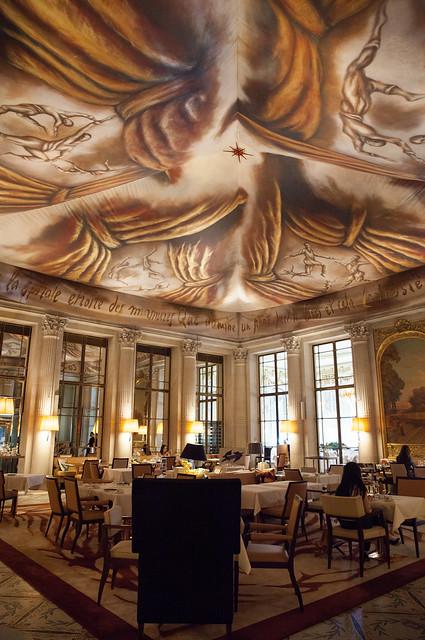 Interior of Le Dalí, where we had tea