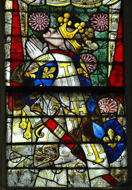 ca. 1433-1435 - 'Louis II, duc d'Anjou (+1417), North Transept Window', Cathédrale Saint-Julien, Le Mans, dép. Sarthe, France