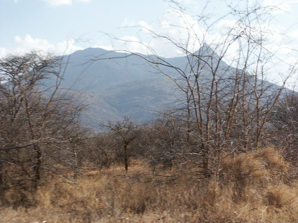 Mt Longido, on the Kenya-Tanzania border, photographed from the road near Namanga.
