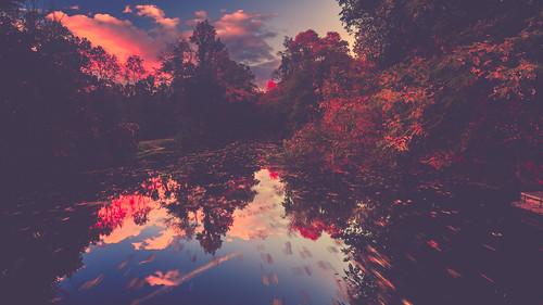 10kplus 10k unitedstates autumn northamerica newjersey delawareandraritancanal canal delawareandraritancanalstatepark landscape sunset cloud astronomicalevent somersetcounty colonialpark somerset franklintownship