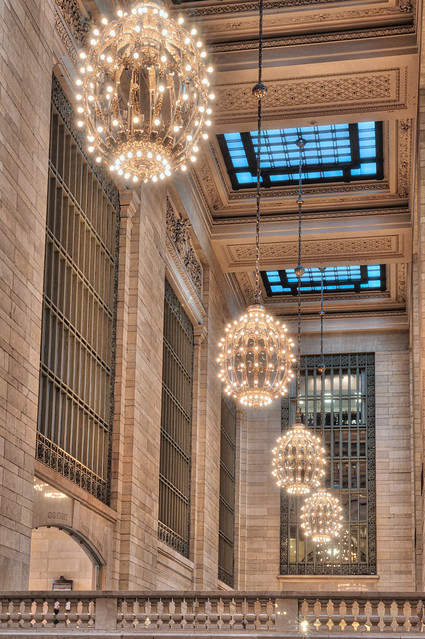 Chandeliers in Grand Central