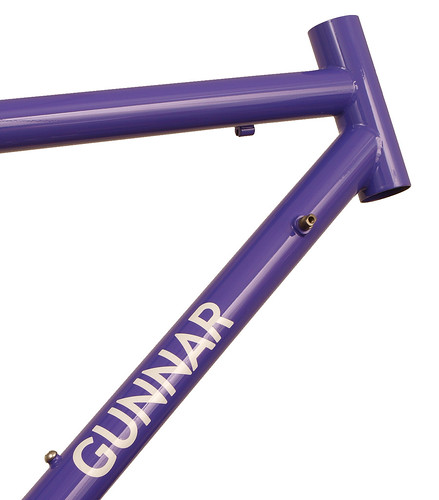 <p>Gunnar Sport in Purple Velvet.  This 50cm size is the smallest stock 700 size with an actual seat tube of only 41.5cm.  The Sport provides a smooth ride for distance oriented cyclists.  Note the built-in head tube extension - the so-called &quot;fat lip&quot;, which allows a more comfortable fit for all-day riding.</p>