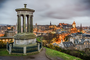 View of Edinburgh from Calton Hill, Scotland, United Kingdom - cityscape photography | by Giuseppe Milo (www.pixael.com)